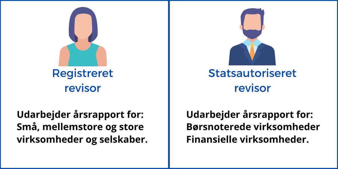 årsrapport: statistik over hvad en registreret revisor udarbejder og hvad en statsautoriseret revisor udarbejder