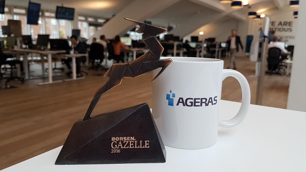 Ageras wint Gazelle award 2016