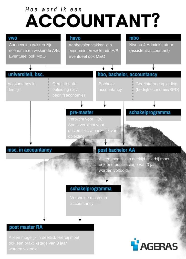 Hoe word ik een accountant infographic
