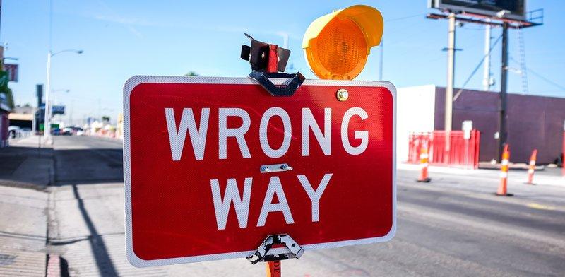Verkeersbord Wrong Way