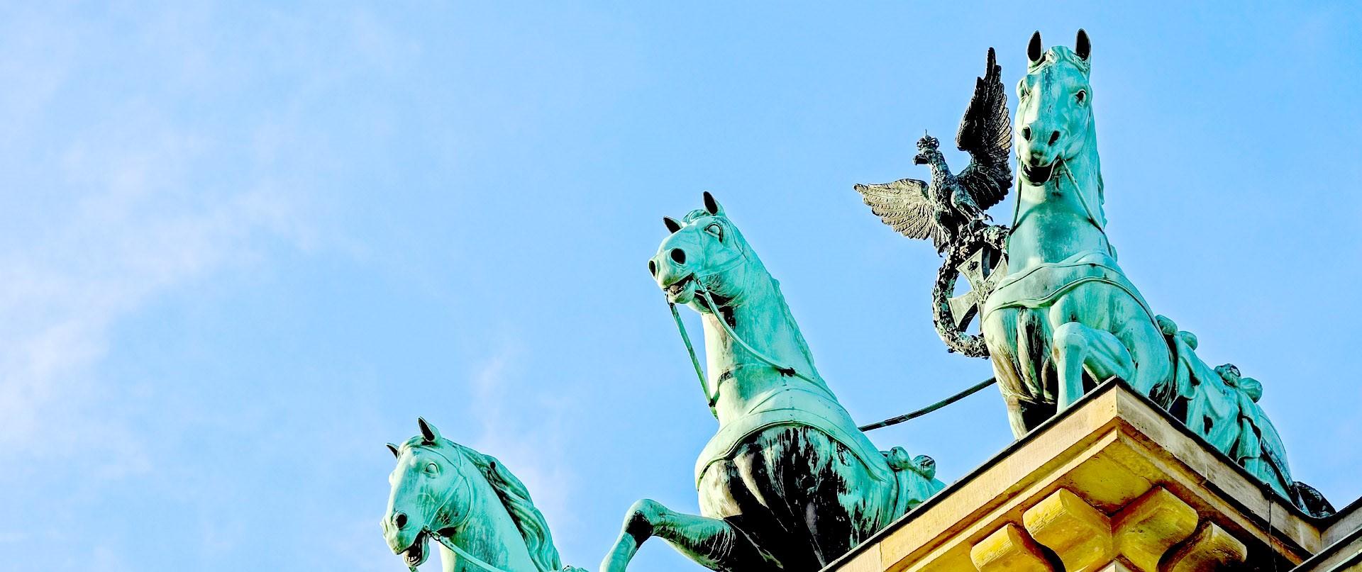 Paarden bovenop de Brandenburger Tor