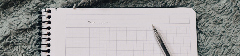 Planner met pen
