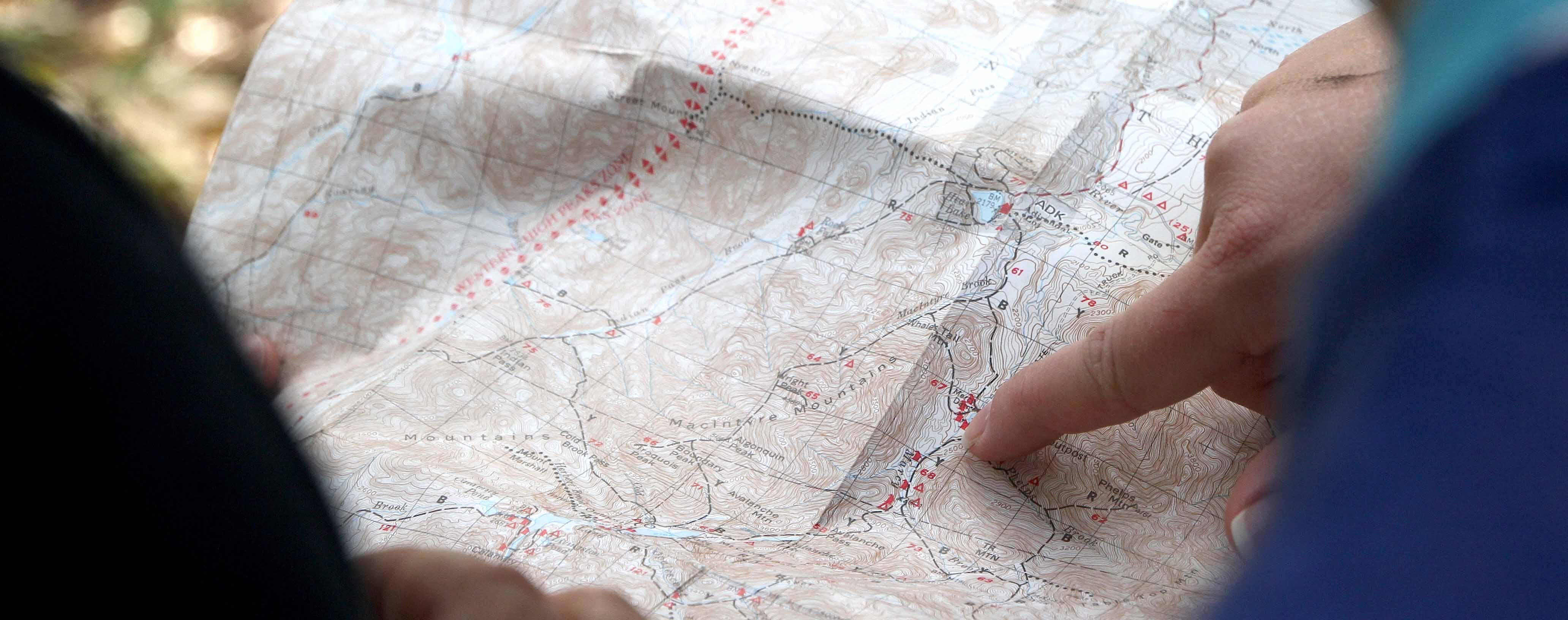Landkaart en route