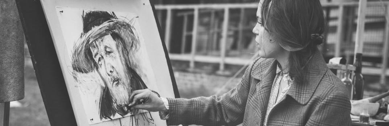 Kunstenares en tekening