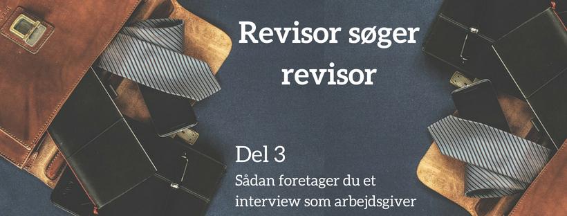 Revisor søger revisor (3): sådan foretager du et interview som arbejdsgiver
