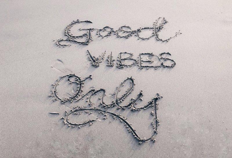 Good vibes only op het strand