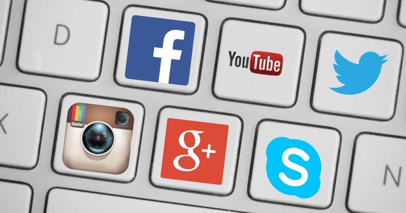 Toetsenbord met sociale pictogrammen