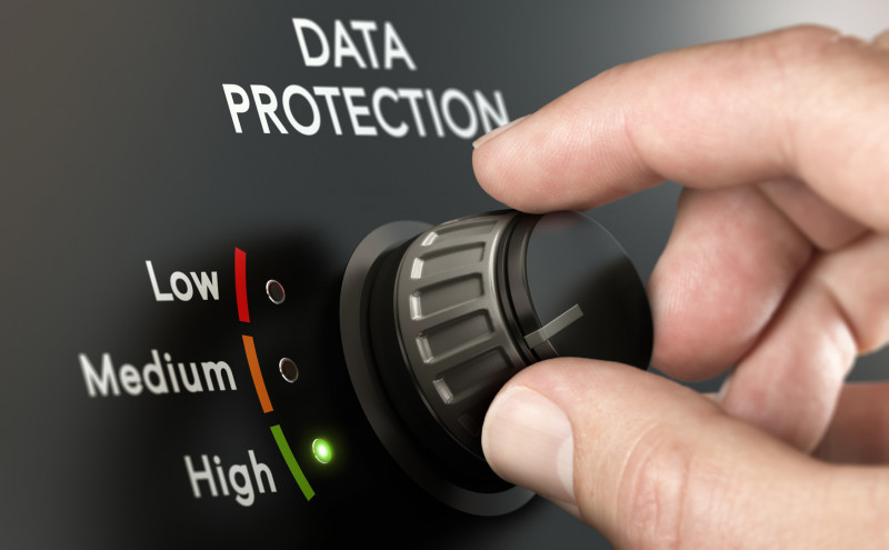 Databescherming knop laag, medium en hoog
