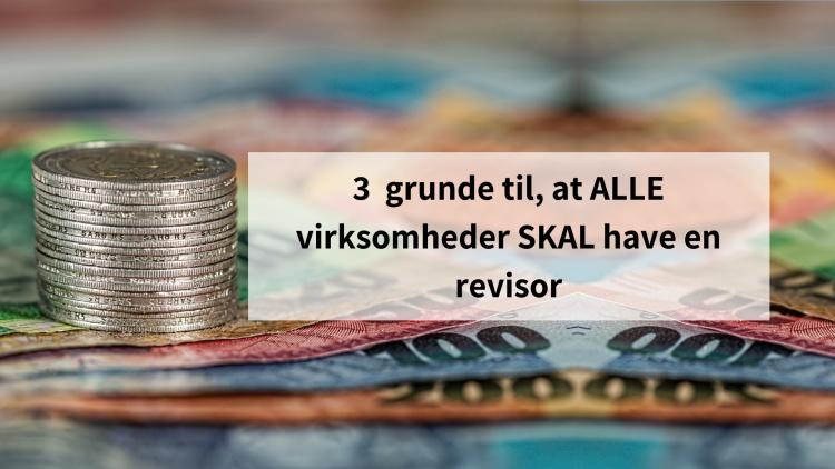 3 grunde til, at ALLE virksomheder SKAL have en revisor