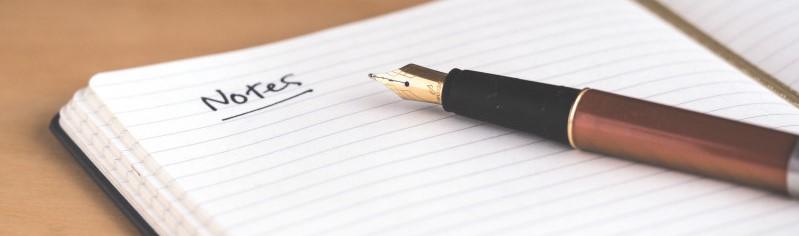 Notaboek en pen