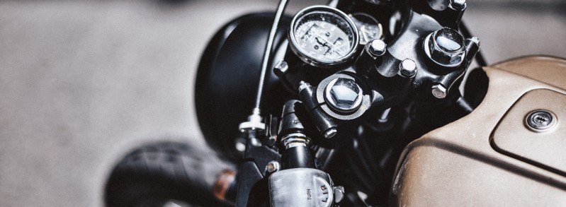 Motorfiets in detail