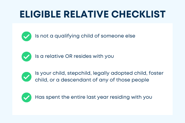 A checklist for claiming an eligible relative on your tax return