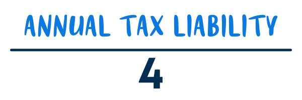Estimated tax calculation equation