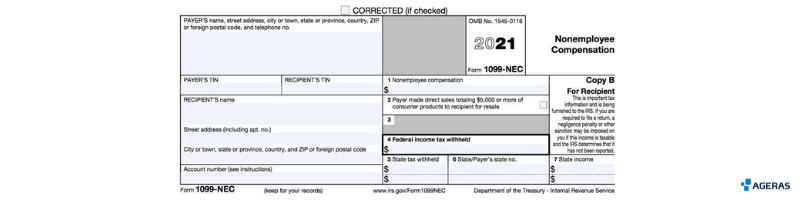 Example of form 1099 NEC