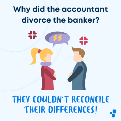 Funny accounting accountant banker joke relationship