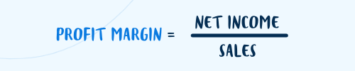 Profit margin equation