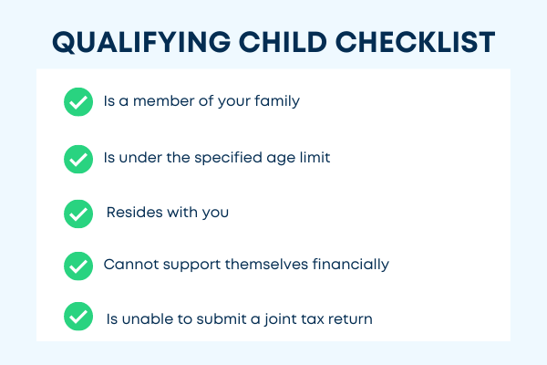 Checklist for claiming a qualifying child on tax return
