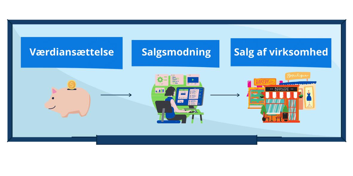 Model over værdiansættelse, salgsmodning og salg af virksomhed